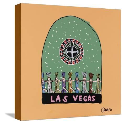 Las Vegas Snow Globe-Brian Nash-Stretched Canvas Print