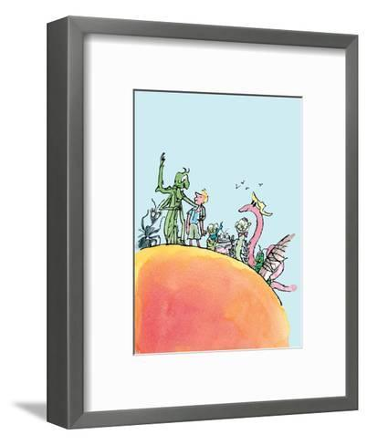 James and the Giant Peach-Quentin Blake-Framed Art Print