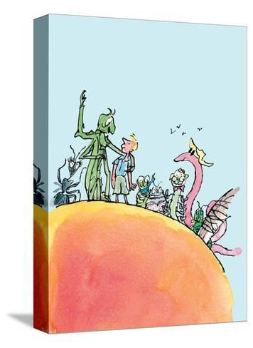 James and the Giant Peach-Quentin Blake-Stretched Canvas Print