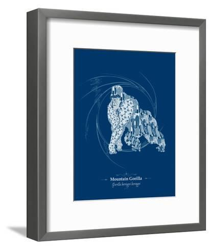 WWF Mountain Gorilla - Animal Tails-Annette D'Oyly-Framed Art Print