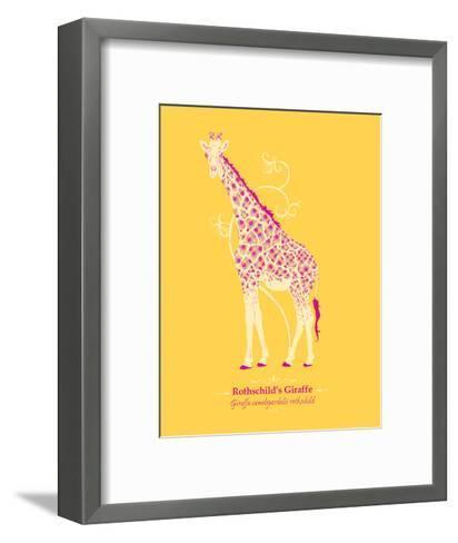 WWF Rothschild's Giraffe - Animal Tails-Annette D'Oyly-Framed Art Print