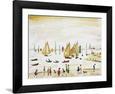 Yachts, 1959-Laurence Stephen Lowry-Framed Art Print