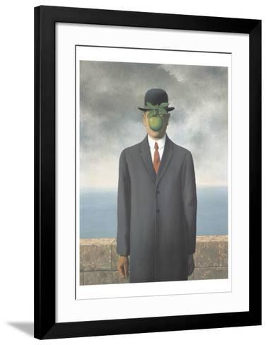 Le Fils de L'Homme (Son of Man)-Rene Magritte-Framed Art Print