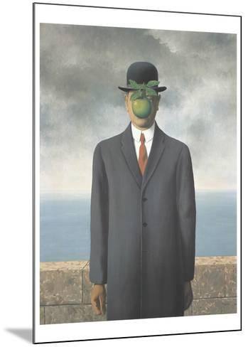 Le Fils de L'Homme (Son of Man)-Rene Magritte-Mounted Art Print