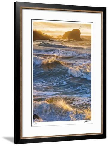 Half Moon Bay Breakers-Donald Satterlee-Framed Art Print