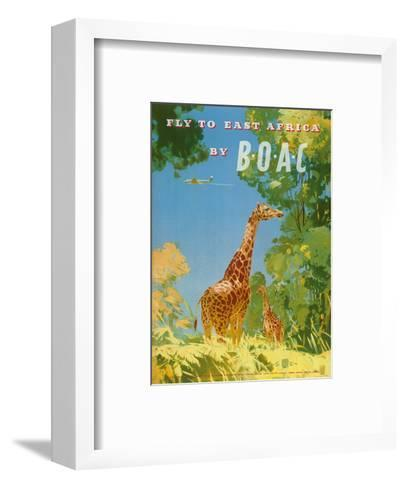 British Overseas Airways Corporation - Fly to East Africa by BOAC - Giraffes-Frank Woutton-Framed Art Print