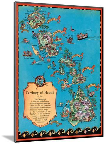 Territory of Hawaii Map-Ruth Taylor White-Mounted Art Print