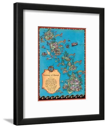 Territory of Hawaii Map-Ruth Taylor White-Framed Art Print