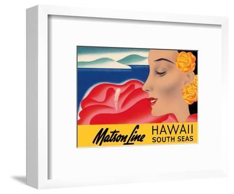 Hawaii And South Seas - Matson Lines-Frank MacIntosh-Framed Art Print