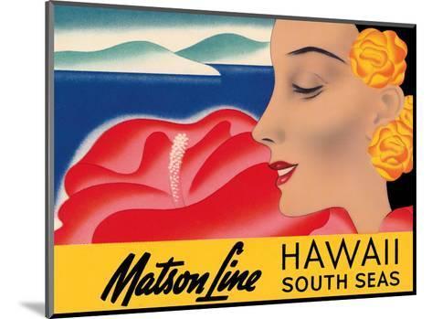 Hawaii And South Seas - Matson Lines-Frank MacIntosh-Mounted Art Print