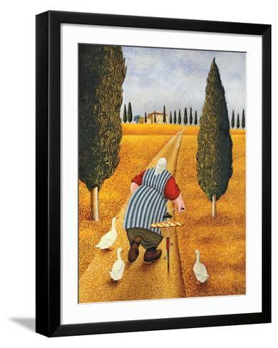 Lady with Fresh Bread-Lowell Herrero-Framed Art Print