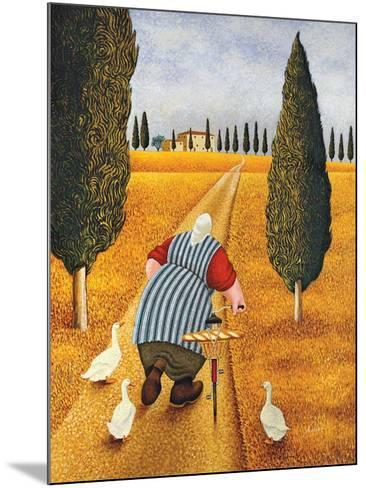 Lady with Fresh Bread-Lowell Herrero-Mounted Art Print
