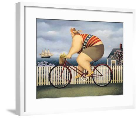 Mary's New Bike-Lowell Herrero-Framed Art Print