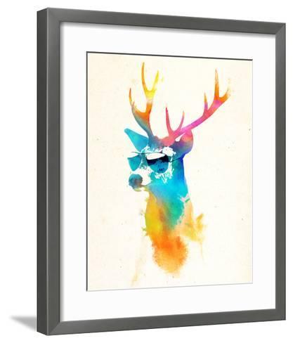 Sunny Stag-Robert Farkas-Framed Art Print