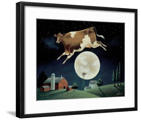 Cow Jumps over the Moon-Lowell Herrero-Framed Art Print
