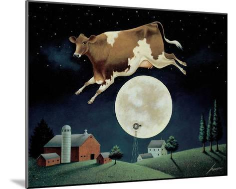 Cow Jumps over the Moon-Lowell Herrero-Mounted Art Print