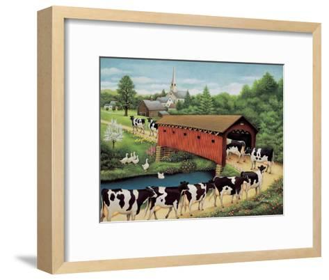 Cows in West Arlington-Lowell Herrero-Framed Art Print