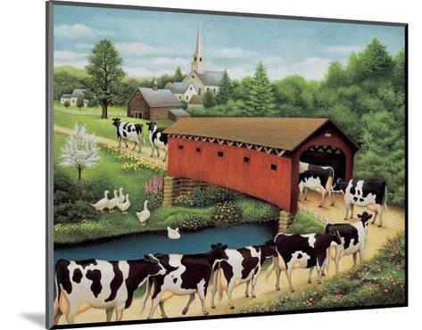 Cows in West Arlington-Lowell Herrero-Mounted Art Print