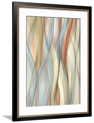 Sheer Taupe and Blue-J^P^ Clive-Framed Art Print