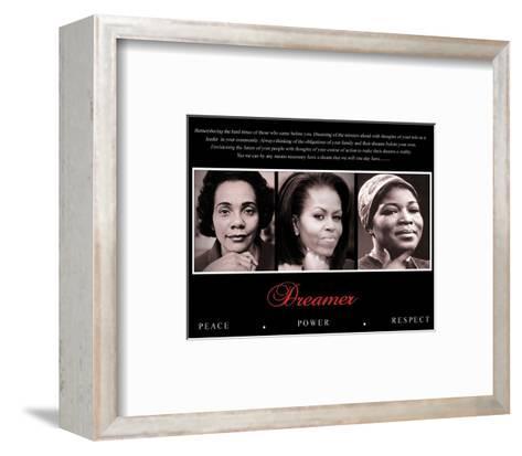 Dreamer (Trio): Peace, Power, Respect--Framed Art Print