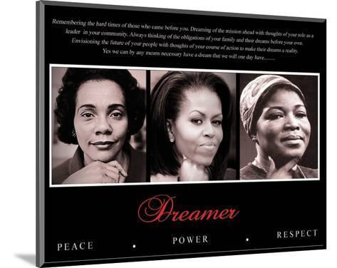 Dreamer (Trio): Peace, Power, Respect--Mounted Art Print