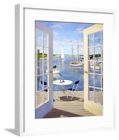 Table on the Harbor-Carol Saxe-Framed Art Print