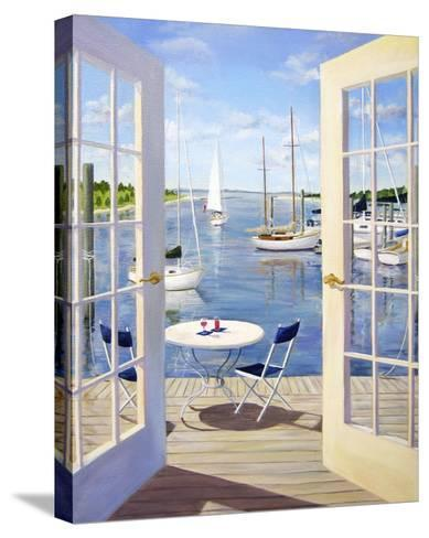 Table on the Harbor-Carol Saxe-Stretched Canvas Print