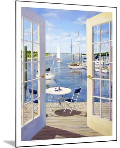 Table on the Harbor-Carol Saxe-Mounted Art Print