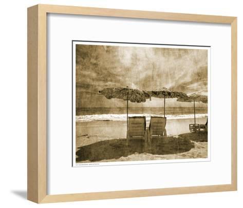 Vintage Beach Seating--Framed Art Print