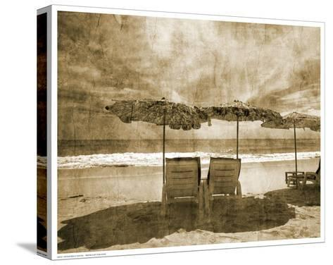 Vintage Beach Seating--Stretched Canvas Print