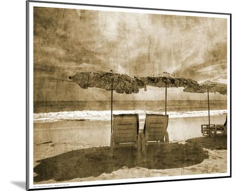Vintage Beach Seating--Mounted Art Print