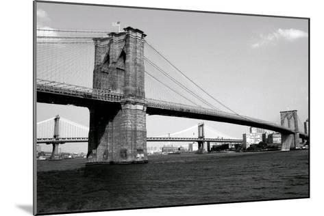 Brooklyn Bridge and Manhattan Bridge, Day-Phil Maier-Mounted Art Print