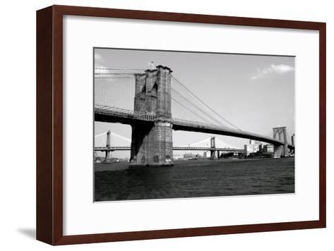 Brooklyn Bridge and Manhattan Bridge, Day-Phil Maier-Framed Art Print