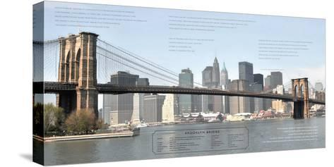 Brooklyn Bridge Architecture-Phil Maier-Stretched Canvas Print