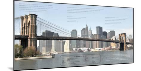Brooklyn Bridge Architecture-Phil Maier-Mounted Art Print