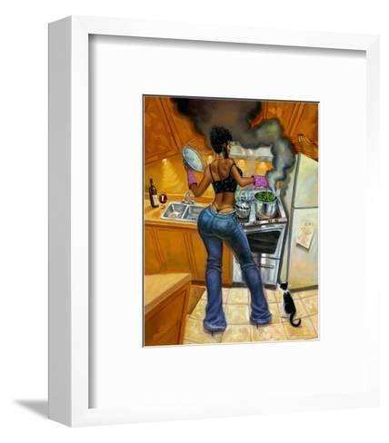 Lookin' Good Cookin'-Sterling Brown-Framed Art Print