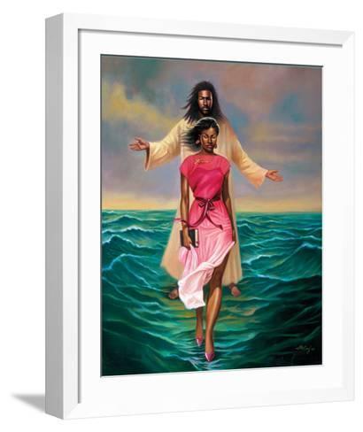 He Walks with Me-Sterling Brown-Framed Art Print