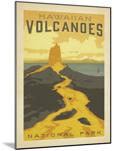Hawaiian Volcanoes-Anderson Design Group-Mounted Art Print