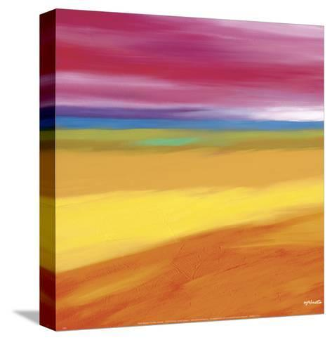 Prairie Abstract 1-Mary Johnston-Stretched Canvas Print