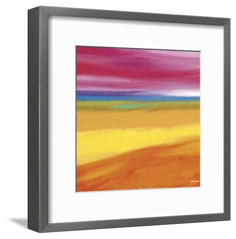 Prairie Abstract 1-Mary Johnston-Framed Art Print