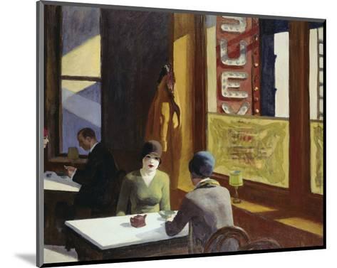 Chop Suey, 1929-Edward Hopper-Mounted Art Print