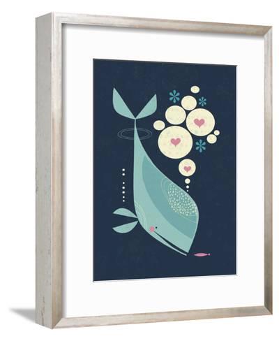 Whale has a Friend-Tracy Walker-Framed Art Print