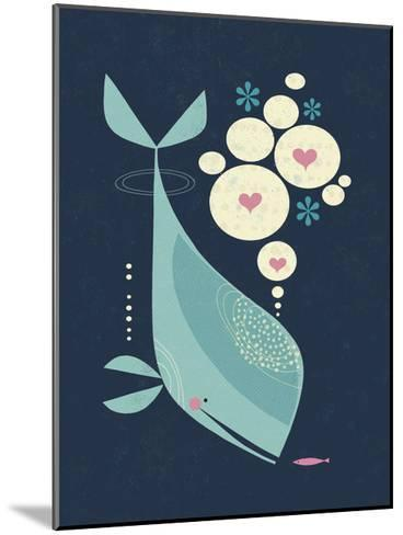 Whale has a Friend-Tracy Walker-Mounted Art Print