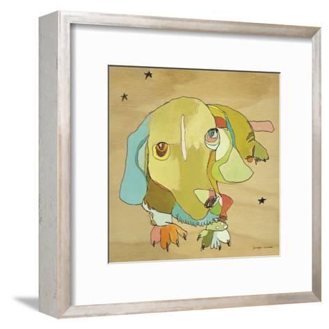 Cooper Dog-Jennifer Mercede-Framed Art Print