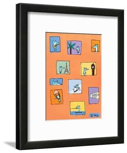 Felipe - Orange-Brian Nash-Framed Art Print