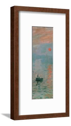 Impression, Sunrise, c. 1872 (detail)-Claude Monet-Framed Art Print