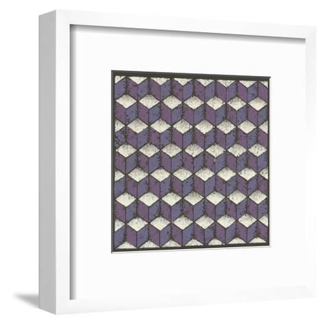 Tumbling Blocks - Plum-Susan Clickner-Framed Art Print