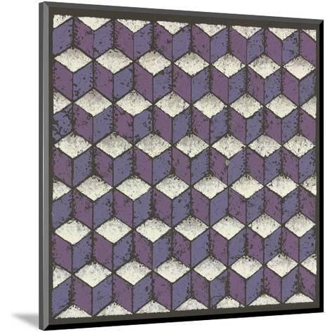 Tumbling Blocks - Plum-Susan Clickner-Mounted Giclee Print