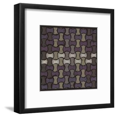 Basketweave Oval - Plum-Susan Clickner-Framed Art Print