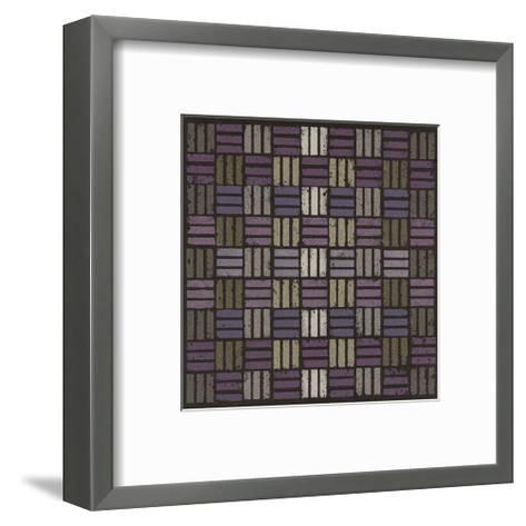 Basketweave Triple Play - Plum-Susan Clickner-Framed Art Print